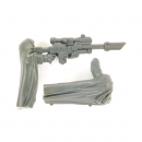 Warhammer 40k Bitz: Imperial Guard - Cadian Command Squad - Sniper Rifle + Cloak