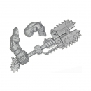 Warhammer 40k Bits: Orks - Ork Nobz - Weapon J - Big Choppa+Arm