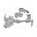 Warhammer 40k Bits: Orks - Ork Nobz - Weapon H - Big Choppa+Arms
