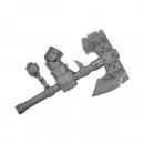 Warhammer Bitz: Orcs & Goblins - Black Orcs - Axe A - Right, Black Orc Boss
