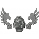 Warhammer 40K Bitz: Dark Angels Ravenwing Command Squad Head A Champion