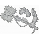 Warhammer 40k Bits: Orks - Ork Nobz - Weapon I - Big Choppa+Arm