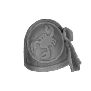 Forge World Bitz: Warhammer 40k - Red Scorpions - Marine Shoulder Pads - Shoulder Pad D