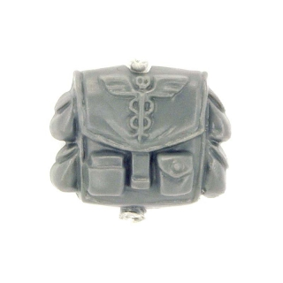 Warhammer 40k Bitz: Imperial Guard - Cadian Command Squad - Backpack / Pouch