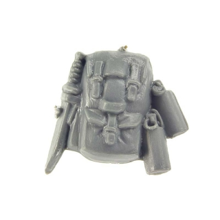 Warhammer 40k Bitz: Imperial Guard - Cadian Heavy Weapon Squad - Backpack A