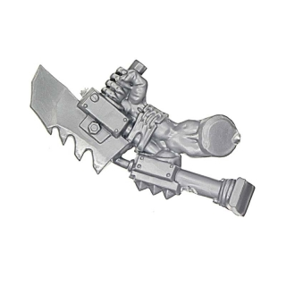 Warhammer 40k Bitz: Orks - Ork Stormboyz - Arm I - Under-Arm-Saw, Right