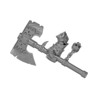 Warhammer AoS Bitz: ORRUKS - 001 - Ardboys - Axe A - Right, Black Orc Boss
