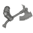 Warhammer AoS Bitz: CHAOS - 008 - Khorne Bloodbound Blood Warriors - Weapon H2 - Goreaxe, Right