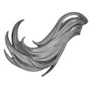 Warhammer AoS Bitz: DUNKELELFEN - 004 - Hexenkriegerinnen - Haar C1 - Rechts