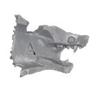 Warhammer 40k Bitz: Space Wolves - Thunderwolf Cavalry - Head G1 - Left, Wolf I
