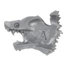Warhammer 40k Bitz: Space Wolves - Thunderwolf Cavalry - Head G2 - Right, Wolf I