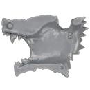 Warhammer 40k Bitz: Space Wolves - Thunderwolf Cavalry - Head H2 - Right, Wolf II