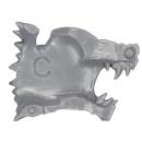 Warhammer 40k Bitz: Space Wolves - Thunderwolf Cavalry - Head I1 - Left, Wolf III