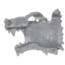 Warhammer 40k Bitz: Space Wolves - Thunderwolf Cavalry - Head I2 - Right, Wolf III