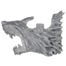 Warhammer 40k Bitz: Space Wolves - Donnerwolf Kavallerie - Kopf J2 - Links, Wolf I