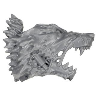 Warhammer 40k Bitz: Space Wolves - Donnerwolf Kavallerie - Kopf J3 - Rechts, Wolf I