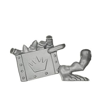 Warhammer 40k Bitz: Orks - Orkbosse - Torso F2 - Bein+Box
