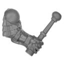 Warhammer AoS Bitz: ZWERGE - 002 - Hammerträger - Arm E1 - Links, Trommelstock