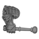 Warhammer AoS Bitz: ZWERGE - 002 - Hammerträger - Arm E2 - Rechts,Trommelstock
