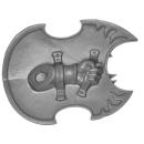 Warhammer 40k Bitz: Chaos Space Marines - Tzaangors - Waffe B2 - Links, Schild