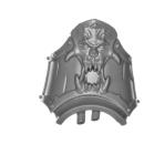 Warhammer 40k Bitz: Chaos Space Marines - Helbrute - Torso D04 - Knee, Right