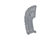 Warhammer 40k Bitz: Dark Angels - Deathwing Terminators - Accessory A1 - Wing, Sergeant