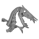 Warhammer AoS Bitz: VAMPIRE COUNTS - Black Knights - Head M1 - Skeletal Steed