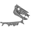 Warhammer AoS Bitz: VAMPIRE COUNTS - Black Knights - Head O1 - Skeletal Steed