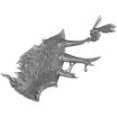 Warhammer 40K Bitz: Chaos Space Marines - Foetid Bloat-Drone - Torso C3c - Kopfplatte, Links
