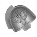 Warhammer 40K Bitz: Dark Angels - Primaris Upgrades - Schulterpanzer C