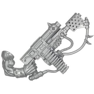 Warhammer 40k Bitz: Orks - Orkbosse - Waffe K1 - Gitbrenna-Kombiwumme