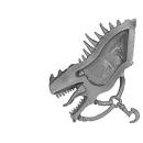 Warhammer AoS Bitz: Dunkelelfen - Echsenritter - Echsenkopf C1 - Rechts