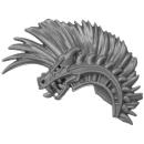Warhammer AoS Bitz: Fyreslayers - Hearthguard - Torso E4b - Helmet Crest