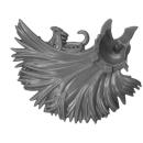 Warhammer AoS Bitz: Fyreslayers - Vulkite Berzerkers - Head J1 - Helmet Crest, Karl, Left