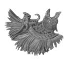 Warhammer AoS Bitz: Fyreslayers - Vulkite Berzerkers - Head J2 - Helmet Crest, Karl, Right