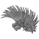 Warhammer AoS Bitz: Fyreslayers - Vulkite Berzerkers - Head L - Helmet Crest