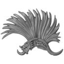 Warhammer AoS Bitz: Fyreslayers - Vulkite Berzerkers - Head P - Helmet Crest