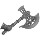 Warhammer AoS Bitz: Fyreslayers - Vulkite Berzerkers - Weapon A1 - Fyresteel Handaxe, Right