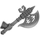 Warhammer AoS Bitz: Fyreslayers - Vulkite Berzerkers - Weapon B4 - Fyresteel Handaxe, Left