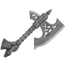 Warhammer AoS Bitz: Fyreslayers - Vulkite Berzerkers - Weapon B5 - Fyresteel Handaxe, Left