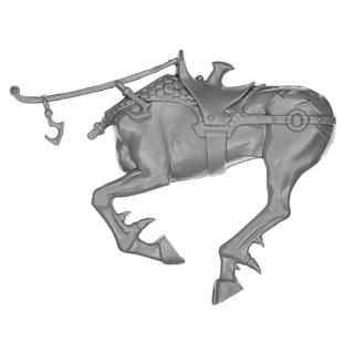 Warhammer AoS Bitz: DUNKELELFEN - 002 - Echsenstreitwagen - Dunkelelfenross B1 - Torso, Links