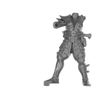 Warhammer AoS Bitz: DARK ELVES - 002 - Cold One Chariot - Crew Body C1 - Charioteer, Front