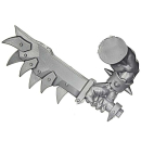 Warhammer 40k Bitz: Orks - Ork Stormboyz - Arm K - Choppa, Right