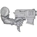 Warhammer 40k Bitz: Orks - Ork Stormboyz - Arm C - Slugga, Left