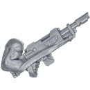 Warhammer 40k Bitz: Catachan Jungle Fighters - Lasgun D With Arm