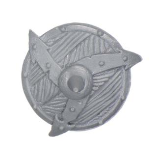 Warhammer AoS Bitz: CHAOS - Barbaren - Waffe U - Schild VIII