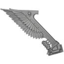 Warhammer 40K Bitz: Dark Angels - Ravenwing Command Squad - Bike K - Banner II