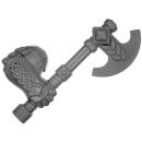 Warhammer AoS Bitz: ZWERGE - 002 - Hammerträger - Axt A - Rechts