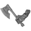 Warhammer AoS Bitz: ORRUKS - 001 - Ardboys - Axe C - Right