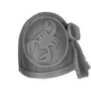Forge World Bitz: Warhammer 40k - Red Scorpions - Marine Shoulder Pads - Shoulder Pad D